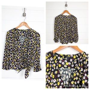 ~ Madewell ~ French Floral Wrap Top
